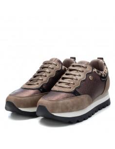 XTI scarpe da donna sneakers con zeppa platform Bronzo 44451
