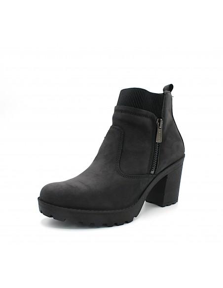 Igi & Co stivaletti da donna con tacco alto in camoscio nero 6157811