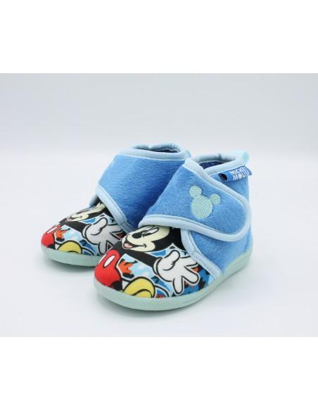 Pantofole per bambino scarpe da casa in tessuto caldo Topolino Mickey Mouse