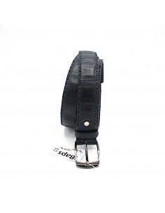 Cintura da uomo in pelle Blu con fibbia in metallo iBaps
