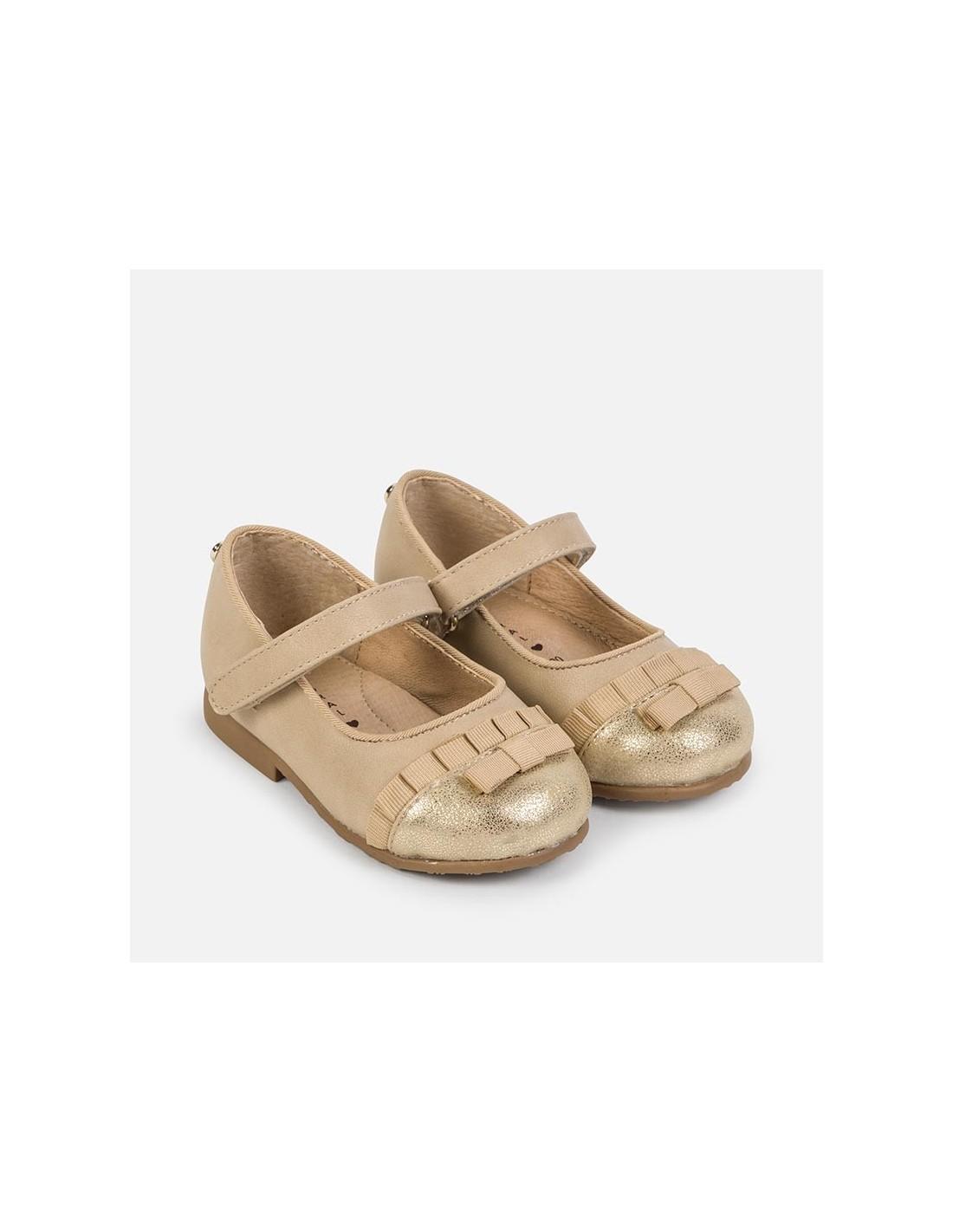 qualità superiore il prezzo rimane stabile gamma completa di specifiche Mayoral scarpe bimba ballerina in nappa beige con fiocco e cinturino art.  42706 - Angela Barba