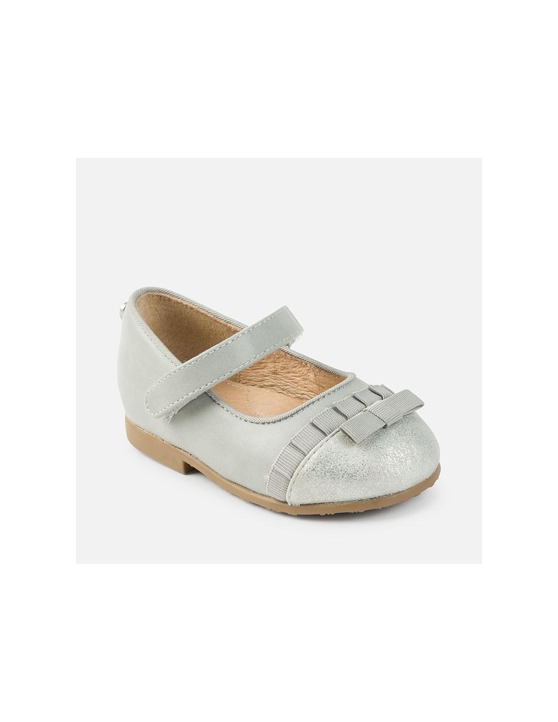 nuovo stile del 2019 dettagliare qualità eccellente Mayoral scarpe bimba ballerina in nappa grigio con fiocco e cinturino art.  42706 - Angela Barba