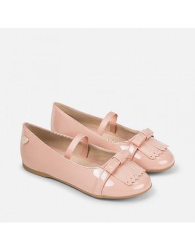 c3c64e9cdc8b Mayoral scarpe bambina ballerina con frange vernice cipria 44711 46711 48711