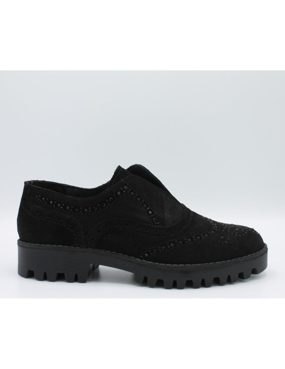 sports shoes 34506 dd8c8 Igi & co. Scarpe donna slip-on in camoscio nero con impunture inglesi art.  87940 - Angela Barba