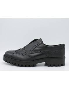 Igi & co. Scarpe donna slip-on in pelle nero con impunture inglesi art. 87931