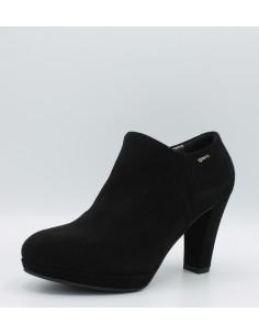 Igi & co. Scarpe donna decolletè accollato in camoscio nero tacco 85mm art 88581