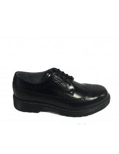 """Nero Giardini scarpa """"inglesina"""" in vitello nero con impunture inglesi A634040M"""