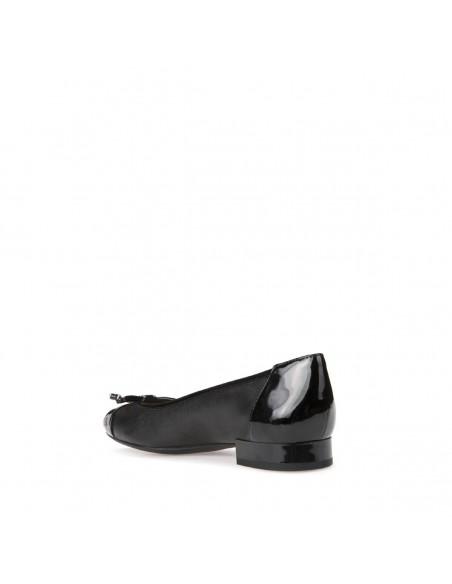 Geox Wistrey D724GF scarpe donna ballerine pelle liscia con fiocco black