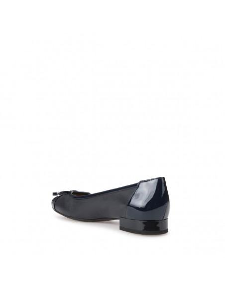 Geox Wistrey D724GF scarpe donna ballerine pelle liscia con fiocco navy