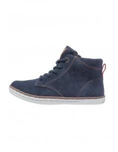 Geox Garcia J64B6D scarpe junior polacchine alte in camoscio navy