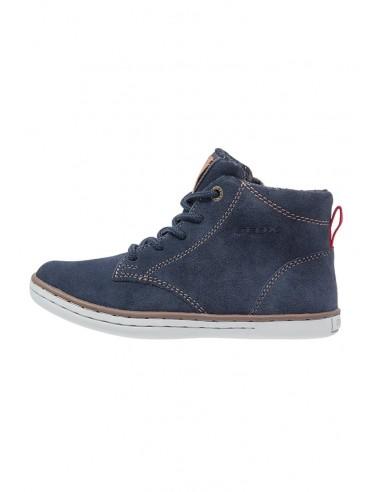 a909d5175f Geox Garcia J64B6D scarpe junior polacchine alte in camoscio navy