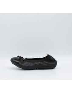 GEOX PIUMA BAL J11B0F ballerine con elastico in pelle nero con punta in vernice