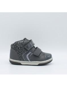 Geox Flick B5434E scarpe bimba primi passi con strappi dk.Grey anatomiche