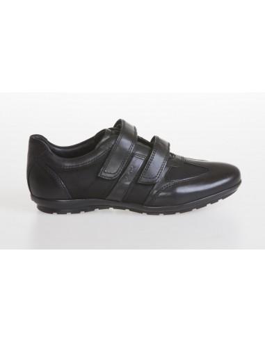 cheaper a9dff 5e8b8 Geox scarpe uomo con strappi in pelle e tela color nero linea Symbol U32A5D  - Angela Barba