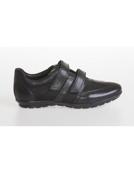 Geox scarpe uomo con strappi in pelle e tela color nero linea Symbol U32A5D
