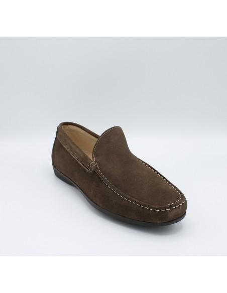 IGI & CO. UDA 1111322 scarpe uomo mocassini in camoscio tortora comodi e leggeri