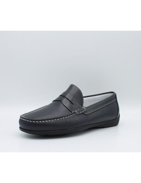 IGI & CO. UDA 1111511 scarpe uomo mocassini in pelle blu comodi e leggeri