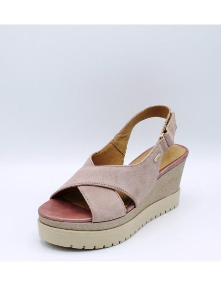 IGI & CO. DLT 1190555 sandali donna con zeppa in morbido camoscio rosa antico