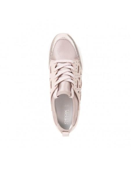 GEOX OPHIRA D821CB Scarpe donna sneakers con tomaia elasticizzata e strass taupe