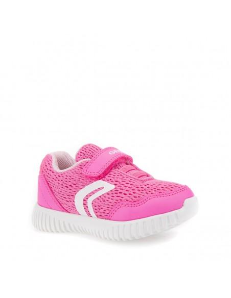 Geox B821XB WAVINESS Scarpe bambina sneakers in tela Fluo Fuxia super leggere