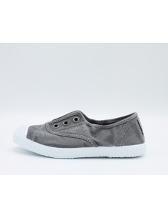 """CIENTA 70777 Sneakers profumate da bambini in tela canvas grigio effetto """"used"""""""