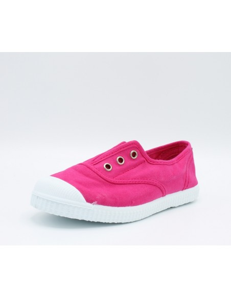 CIENTA 70997 Scarpe Sneakers profumate da bambine slip-on in tela canvas fuxia