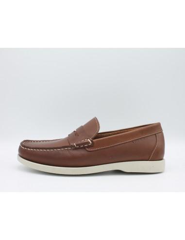 IGI & CO. UIO 1112622 scarpe uomo mocassini modello da barca in pelle cuoio