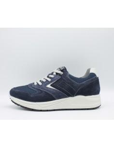 IGI & CO. USL 1122544 Scarpe uomo sneakers in camoscio e tela Blue con lacci