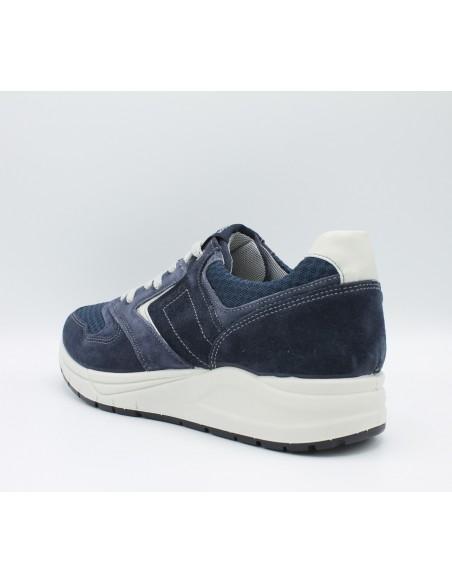 IGI & CO. USL 1122511 Scarpe uomo sneakers in camoscio e tela grigio con lacci