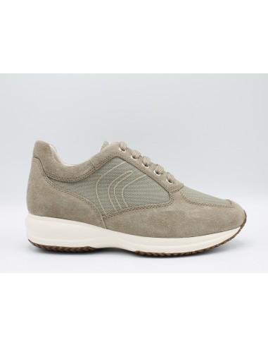 GEOX HAPPY U4162G Scarpe uomo sneakers in camoscio e tessuto con suola  rialzata - Angela Barba 53879e33624