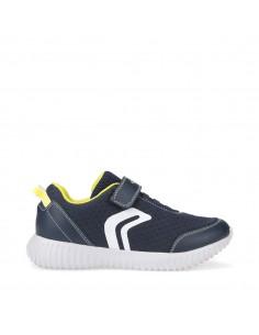 GEOX Waviness J826TA Scarpe Junior sneakers in tea con strappo e lacci elastici