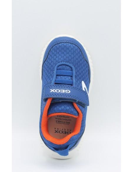 GEOX B822BB WAVINESS Scarpe bambino sneakers in tela Royal/Orange super leggere