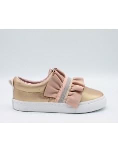 GIOSEPPO Scarpe bambina 43909 sneakers slip-on con volant lurez in pelle rosa