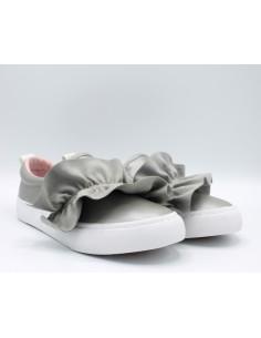 GIOSEPPO 43910 Scarpe bambina sneakers slip-on con volant in pelle lurez rosa
