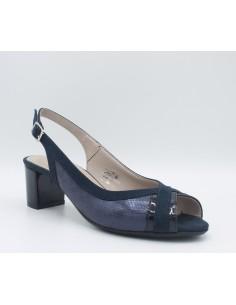 CINZIA SOFT Sandali donna eleganti in linea comoda in pelle lurex blu IAB292340