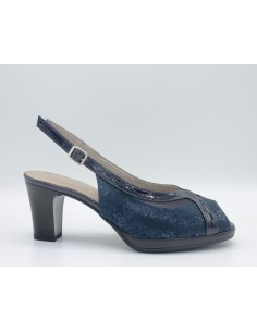 CINZIA SOFT Sandali donna eleganti linea comoda in pelle lurex blu IAB311111