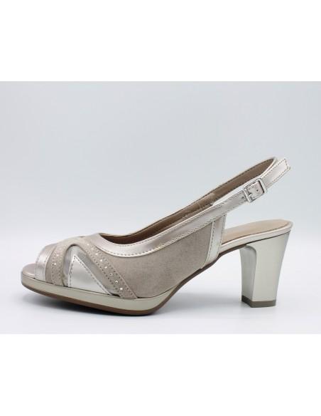 CINZIA SOFT Sandali donna eleganti linea comoda in pelle vernice beige IAB322319