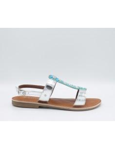 CAFè NOIR GB114 Sandali donna pantofola ciabatta decorata con strass e perline