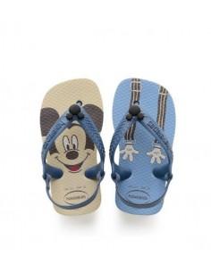 HAVAIANAS Baby Disney Topolino Infradito bambino Beige Blu Originali Brasiliani