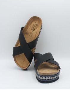 KOALA BAY CICLON Sandali donna pantofole anatomiche in pelle fasce ad incrocio