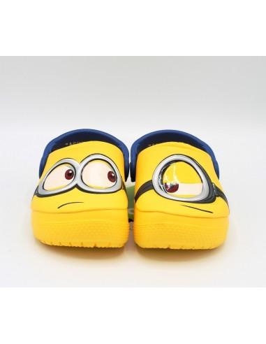 CROCS Fub Lab Minions pantofole sandali mare bambino in gomma giallo blue fluo