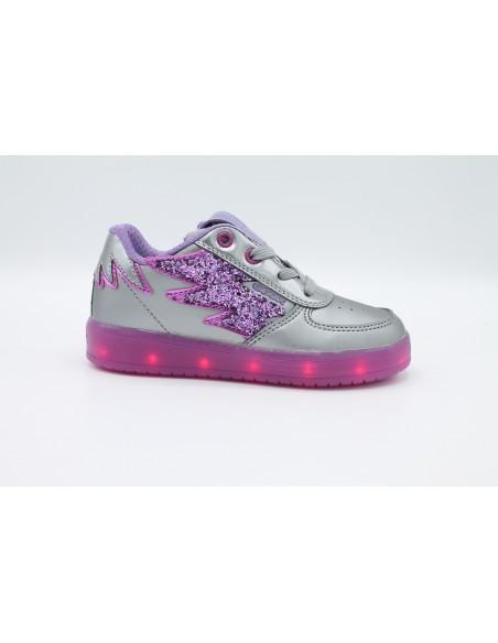 Geox Junior scarpe Bambina luci led colorate ricaricabili usb Kommodore J844HB