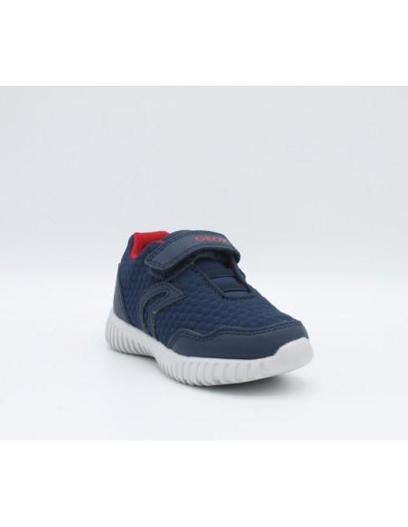 GEOX B822BB WAVINESS Scarpe bambino sneakers in tessuto Navy Red super leggere