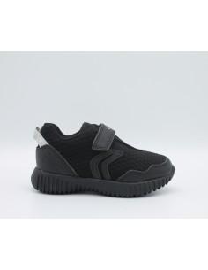 GEOX B822BB WAVINESS Scarpe bambino sneakers in tessuto Nero super leggere