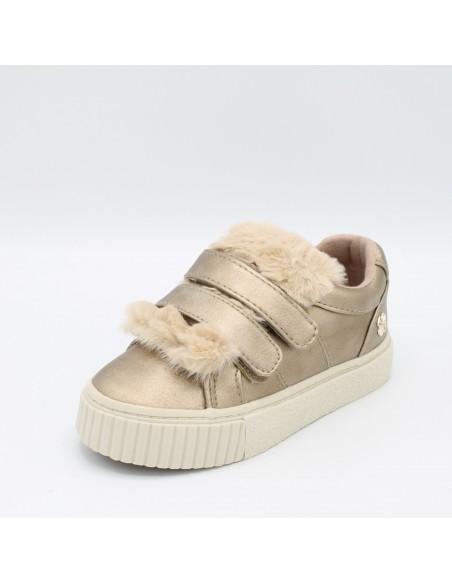 MAYORAL 44865 46865 Scarpe bambina sneakers con pellicciotto oro con strappi