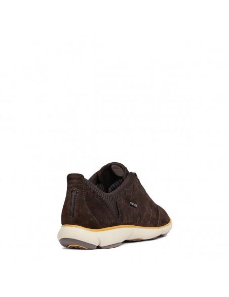 GEOX NEBULA U74D7C Scarpe Uomo sneakers con lacci in camoscio Navy - Dk Coffee