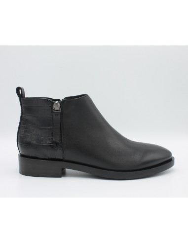 GEOX Stivaletto Donna Brogue D842UF Tronchetto in pelle nero tacco basso  scarpe 054f21ddd94