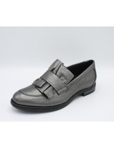 IGI & Co. Scarpe mocassini donna in pelle nero con volant 2183100