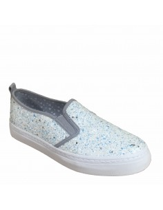 Gioseppo scarpe slip-on glitter argento
