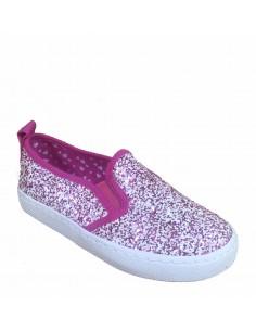 Gioseppo scarpe bimba slip-on kopita glitter fuxia